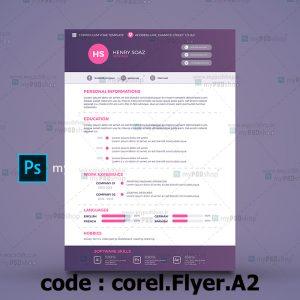 طرح لايه باز تراکت یکرو شرکتی corel.Flyer.A2