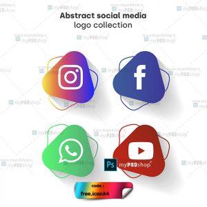 دانلود رایگان آیکن شبکه های اجتماعی قابل استفاده در کرل و ایلستریتور free.iconA4