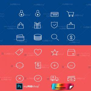 دانلود رایگان آیکن خطی تجارت الکترونیکی free.iconA6