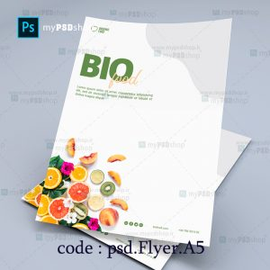 دانلود رایگان طرح لايه باز تراکت یکرو میوه ها psd.Flyer.A5