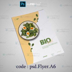 دانلود رایگان طرح لايه باز تراکت مواد غذایی psd.Flyer.A6