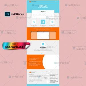 دانلود رایگان طرح لایه باز قالب وب سایت شرکتی psd.web.A4