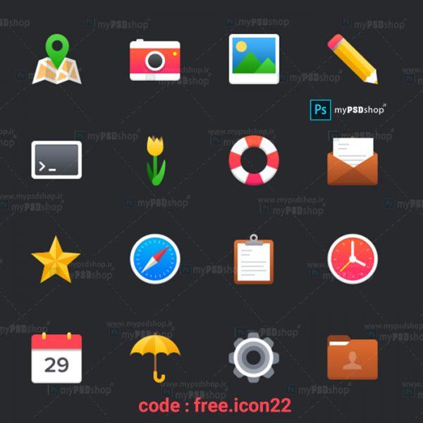 دانلود رایگان آیکن های مختلف کاربردی free.icon22