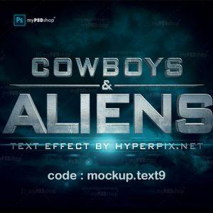 دانلود رایگان موکاپ متن با افکت سه بعدی سینمایی mockup.text9