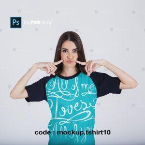 دانلود رایگان موکاپ تیشرت دخترانه mockup.tshirt10