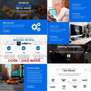 دانلود رایگان طرح لایه باز قالب وب سایت تجاری psd.web8