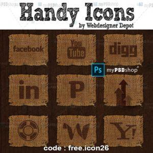 دانلود رایگان 26 آیکن پارچه بافت دار free.icon26