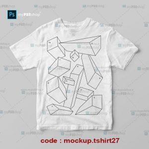 دانلود موکاپ تیشرت آستین کوتاه پسرانه mockup.tshirt27