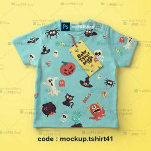 دانلود موکاپ لباس شاد بچگانه mockup.tshirt41