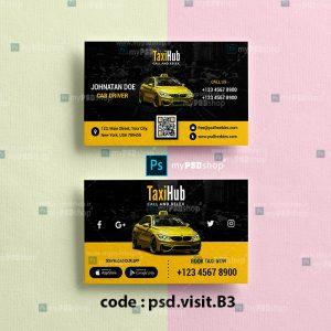 دانلود فایل لایه باز کارت ويزيت تاکسی psd.visit.B3