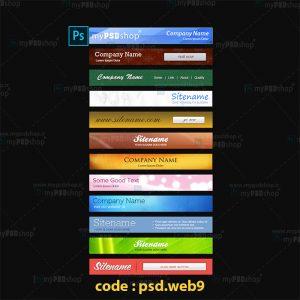 دانلود رایگان طرح لایه باز بنر وب سایت psd.web9