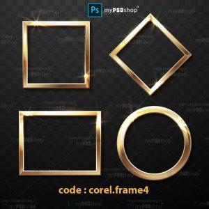 دانلود رایگان وکتورهای قاب طلایی corel.frame4