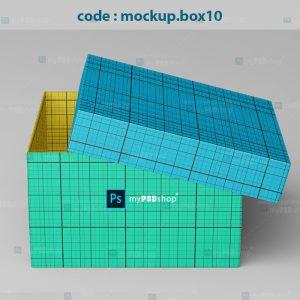 دانلود موکاپ جعبه و کارت بسته بندی کفش mockup.box10