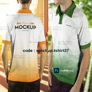 دانلود موکاپ تیشرت پسرانه در پنج مدل مختلف mockup.tshirt37