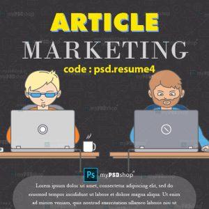 دانلود رایگان رزومه حرفه ای بازاریابی و دیجیتال مارکتینگ به صورت اینفوگرافیک psd.resume4