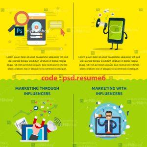 دانلود رایگان رزومه حرفه ای دیجیتال مارکتینگ psd.resume6