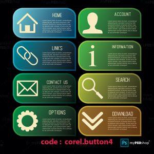دانلود رایگان وکتور دکمه های وب corel.button4