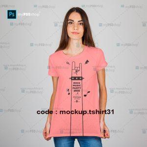 دانلود موکاپ تیشرت شاد دخترانه mockup.tshirt31