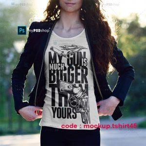 دانلود موکاپ تی شرت اسپرت دخترانه mockup.tshirt45
