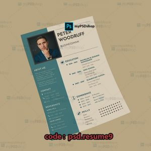 دانلود رایگان رزومه شخصی psd.resume9